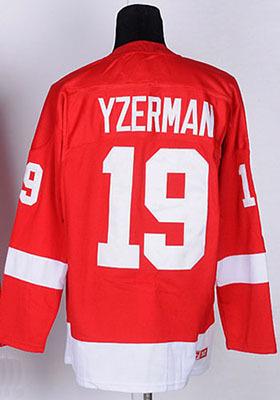 Size Small-4XL,5xl#19 Steve Yzerman Jersey Red Detroit Embroidery Logo customized Hockey Jersey Free Shipping(China (Mainland))