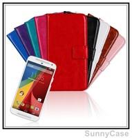 Retro Crazy Horse Wallet Leather Case for Motorola Moto G 2014 2 G+1 G 2nd Gen