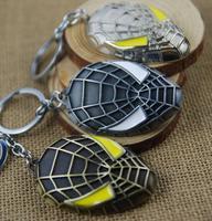 2015 new balance key chain[ Wholesale ] latest production model Spiderman mask keychain zinc alloy gold key pendant
