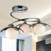 Energy saving LED iron lamp ceiling lamp glass living room lamp bedroom lamp restaurant study foreign trade lighting lamp