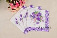 B93 60pcs/lot tissue paper napkin party decorations Printed Napkins wedding decorations factory direct sales