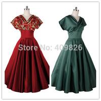 Hepburn Style Vintage Aristocratic Temperament Slim Fit Tunic Dress With Big Swing Boutique Celebrity Dresses Vestidos de Festa