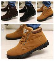 2014 New winter Warm men Shoes Add velvet men's cotton snow ankle boots sport casual men platform sneakers canvas shoes X565