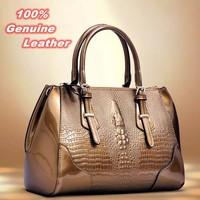 2015 New Arrival Bag Fashion 100% Genuine Leather Handbags Women Aligator Clutch Bag Messenger Shoulder Bags BK056