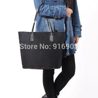 Fashion Satin Fabric With Snakeskin PU Handle Shoulder Bags,Women's Elegant Handbags,Popular Large SizeTote,Brand Purse,SJ044