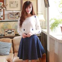 New Autumn And Winter 2014 Korean Women Skirts Polka Dot Wild Bottoming Tutu Skirt Free Shipping H45037