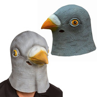 Hot Sell Latex Mask Chic Halloween Pigeon Head Creepy Costume Theater Prop Novelty Hats Free Shipping