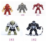 5pcs Big juggernaut Venom Lazy Rhino VS Hulk Buster Green Goblin Figures Toys Marvel Building Blocks Action Figures Bricks Toy