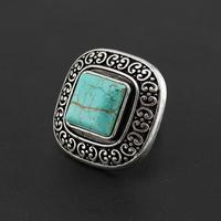 2015 Imitate Gemstone Jewelry Retro Turquoise Rings Size Adjustable Ring Women Vintage Jewelry  AR056