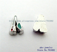 fishing pole FC433 Mix Min order 10$ 20pcs wholesales floating charms for living locket as families friends gift