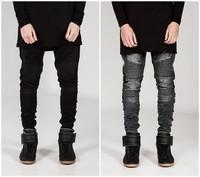 European and american style skinny jeans men distrressed mens slim fit jeans hip hop men pencil pants