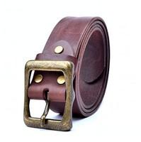 Brand designs Men Belt  Italian leather belts Single needle buckle 100% top Cowhide durable leisure belts