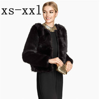XS-XXL Spring New Arrival Fur Coat Of Women Fashion Luxury Faux Overcoat PU Patchwork Fastener Satin Lining Outerwear