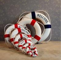 Craft lifebuoy, Mediterranean style arts and crafts, home decoration decoration hanging lifebuoy, kawaii vintage home decor