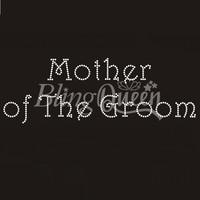 50PCS/LOT Custom Hot Fix Iron On Rhinestone Motifs Mother of The Groom Design