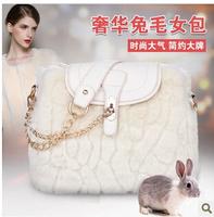 Korea rabbit new fashion handbags shoulder diagonal chain bag JY206