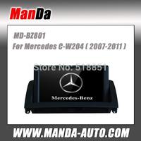2 din car multimedia for Mercedes C-W204 (2007 2008 2009 2010 2011) car gps navigation bluetooth