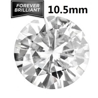 FOREVER BRILLIANT Certified 4.0 CT Synthetic Loose Moissanite Stones Round Brilliant Cut 10.5mm VVS F-G Colorless Test Positive