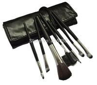 2015 New Black Color Larainevip 7PCS Eyeshadow Eyelash Eyeliner Lipstick Foundation Makeup Brush Set Tool