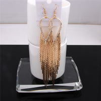 Vintage Gold Plated Silver Plated Crystal Rhinestone Fashion Earrings for Women High Quality Party Costume Jewelry Earrings