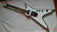 New white Dean Razorback 255 Dimeslime Electric Guitar