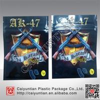 Hot sale AK 47 5g potpourri ziplock bag,aluminum foil aK-47 herbal bag with zip on top