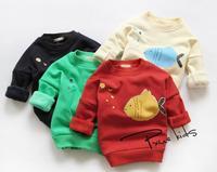 New 2014 baby girls thicken shirt children undershirt kids fashion winter clothes A139