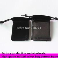 4*6cm Jewelry display Pouches knitted velvet bag bottom beam Rings necklace Earrings Bracelets Bangle Gif USB phone Bags Holder