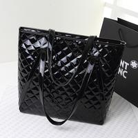 Dimond plaid fashion japanned leather women's handbag big bags autumn 2014 women's bag one shoulder handbag