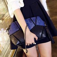 Bags 2014 clutch patchwork women's handbag small bag chain messenger bag shoulder bag small