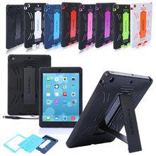 Pour Apple iPad Case Air Heavy Duty caoutchouc antichoc stand Housse Pour iPad 5 8 couleurs(China (Mainland))