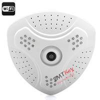 1.3MP support WI-FI Mobile Phone Full 360 Degree Fisheye Surveillance Camera