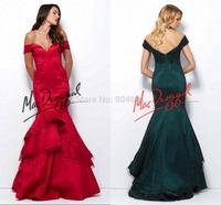 High Quality Off Shoulder Mermaid Prom Dresses Sleeveless Floor-Length Satin Elegant  Formal Gowns ZY323