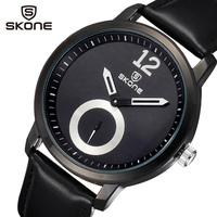 Men's Casual Watches SKone Luxury Brand Fashion Analog Quartz Watch Leather Strap Male Clock Wristwatches relogio masculino