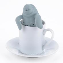 2015 Teapot cute Manatee Infuser Tea Strainer Coffee Tea Sets silicone Manatee Z MHM705 C4