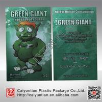 Wholesale aluminum foil 3g/4g/5g/10g Green Giant spice potpourri bag