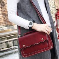 2014 Wine red bag vintage messenger bag small messenger bag fashion women's handbag bag