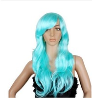 65 Cm Harajuku Anime Colorful Cosplay Wigs Young Long Curly Synthetic Hair Wig Blonde Wigs For Halloween Costume 11 Colors