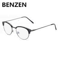 2015 Blu Ray Anti Fatigue Computer Goggles Half Box Reading Glasses Retro Radiation-resistant Glasses Frame Oculos De Grau 5017