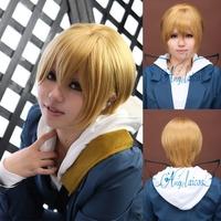 Angelaicos DuRaRaRa!! DRRR!! Masaomi Kida Girls Blonde Short Halloween Anime Cosplay Wigs