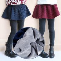 Min. order any 2pcs in shop Sz100~140   girls leggings children pantskirts girl skirts pants winter thermal trousers Thick