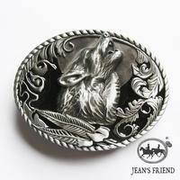 Hot-selling 3D detail wolf howling under moon black Charming Enamel Western belt buckle Men's Wolf belt buckle Nice Gift For Him