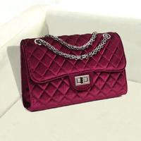 Velvet 2014 women's winter fashion handbag small plaid women's chain bag messenger bag