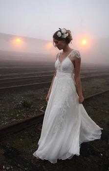 Пользовательские 2015 благородный пляж цвета слоновой кости свадебные платья свадебные платья размер : 2 / 4 / 6 / 8 + + + 1-0231