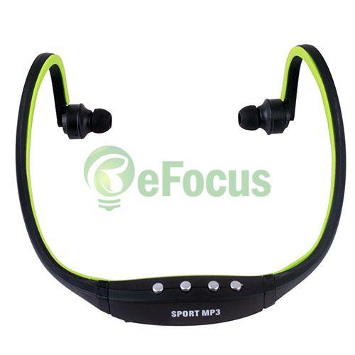 Sport Wireless Earphones Headphones Music MP3 Player TF Card FM radio #40806(China (Mainland))