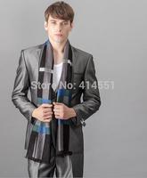 New men scarf Autumn winter Mulberry silk plaid scarf 175*230CM scarf Men's scarf shawl shawl Long Scarves men