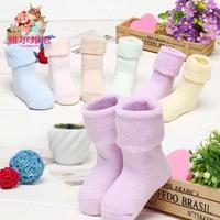 6pair / lot 0-1-3-5 year Cotton Socks Unisex Warm Socks Baby Terry Socks Baby Relent Socks Wholesale Children Drop Shipping