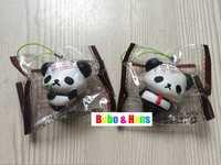 New design Cute panda friend style II squishy charm / mobile phone strap Pendant / Wholesale
