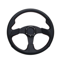Car Steering Wheel Black Gray Genuine Leather Hole-digging Breathable Q5 Slip-resistant Universal Auto Supplies Car Accessories