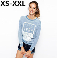 XS-XXL Spring And Summer Fashion Sweatshirts Of Women Wind BoyFriend Classic 1989 Printing Do The Old Casual Sweatshirts